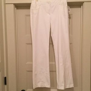 NWT White Dressy Jeans by Dalia Collection. Sz 6