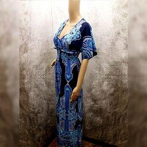 Christina Love Dresses & Skirts - Christina Love Navy/Multi-Print Dress