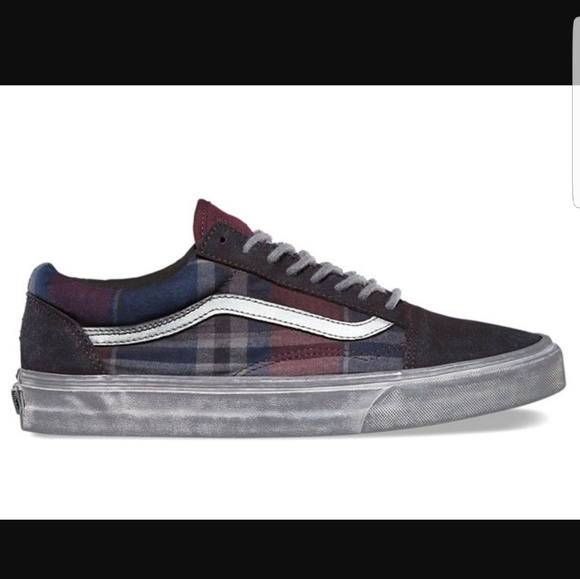 7e1e6eae1cb257 New Vans Old Skool Overwash Plaid Port Royal Black