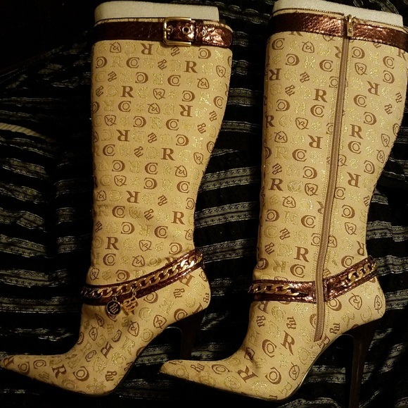 44 rocawear shoes rocawear brown knee high boots