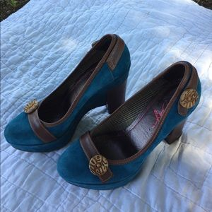 Miss Sixty Shoes - Miss Sixty suede platform pumps SZ 7 SZ 37