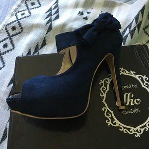 Ollio Shoes - Ollio womens bow pump