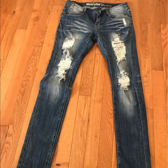 83% off Machine Denim - Machine denim ripped skinny jeans size 27 3 from Colleenu0026#39;s closet on ...