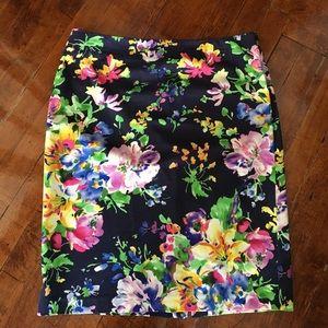 Lauren Ralph Lauren Dresses & Skirts - Lauren Ralph Lauren Floral Print Pencil Skirt
