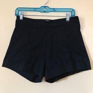 Black Denim Retro Shorts