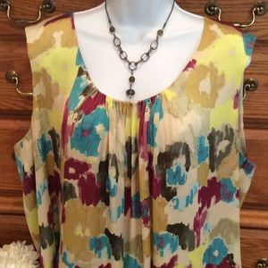 Relativity Tops - Relativity Colorful Blouse