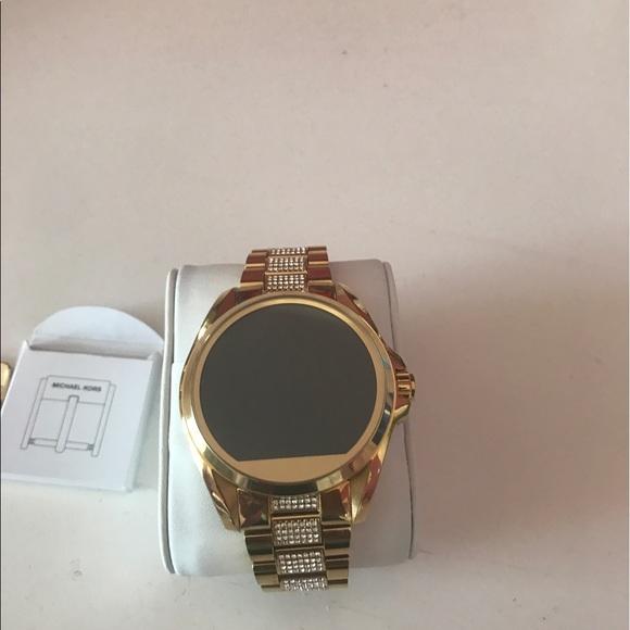 b6b4044cb711 Michael Kors Access Bradshaw Gold Tone Smartwatch.  M 593db07878b31cd0f1028460