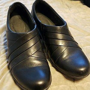 Clarks Black Low Heel Booties