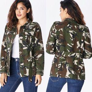 Jackets & Blazers - ✨🆕 Camo Studded Jacket✨