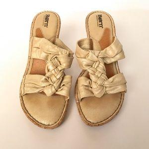 Born Shoes - {born} cream colored strappy wedges