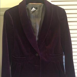J. Crew purple velvet blazer size 6