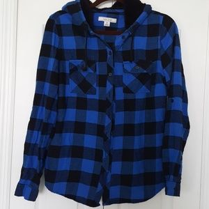 Adam Levine Collection Other - Adam Levine flannel with hood