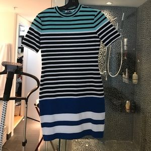 Alexander Wang Striped fitted dress