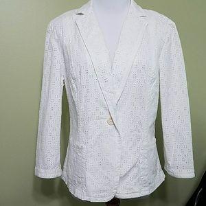 Talbots Jackets & Blazers - Talbots  White Blazer with pockets