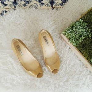 LK Bennett Shoes - L.K. BENNETT LONDON patent leather taupe heels