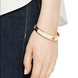 Kate Spade Hole Punch Lt Pink Gold Hinge Bracelet
