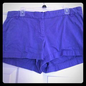 Purple 3 inch JCrew Chino Shorts 12