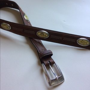 Leather fish belt