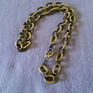 Jewelry - SALE Gunmetal and Goldtone Open Link Necklace