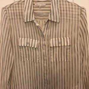 Striped chiffon-like blouse, from Madewell.