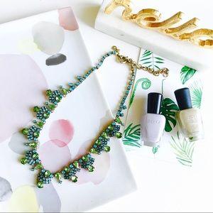 J. Crew Jewelry - 🌸SALE🌸J. Crew green crystal statement necklace