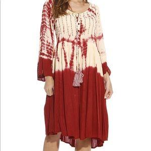 Dresses & Skirts - Sz XS-1X Bell Sleeve Tie Dye Midi Dress