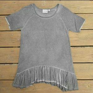 Dantelle Tops - Dantelle Ruffle Hem Shirt