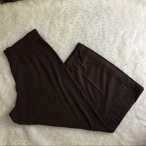 Eileen Fisher Brown Jersey Wide Jersey Pants sz S