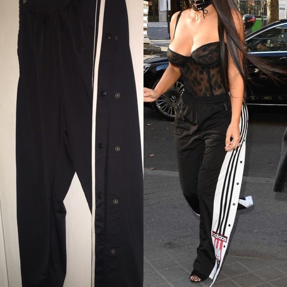 Adidas Pants  As Seen On Kim K Side Button Track  Poshmark-6135