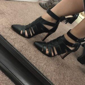 Women S Black Zara Pointed Heels On Poshmark