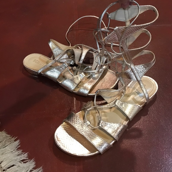 f574bf8e17964b Gold Schutz Gladiator Sandals. M 593dc100d14d7bc91e02ac60