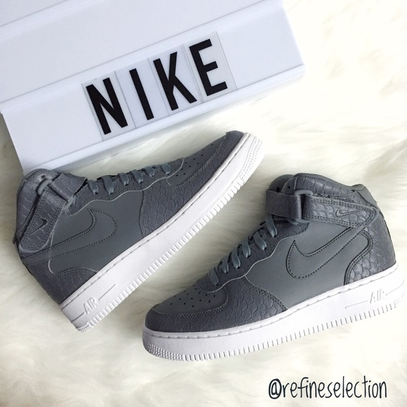 info for df320 3bd76 Nike Air Force 1 Mid LV8 GS Cool Grey Sneakers