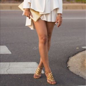 Tory Burch Shoes - Tory Burch Amalie Gladiator golden sandals🌸