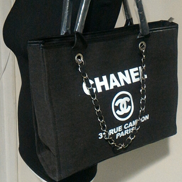 chanel Bags   Authentic Vip Gift Canvas Tote   Poshmark e3993c9153