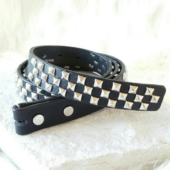 b26b236714d8c YOHJI YAMAMOTO studded leather belt w o buckle