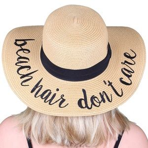 dd0628fa65f Accessories - Beach hair don t care floppy beach sun straw hat