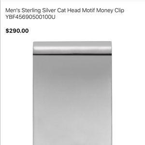 1bc7a5f72cda Gucci Accessories - Gucci sterling silver cat head motif money clip