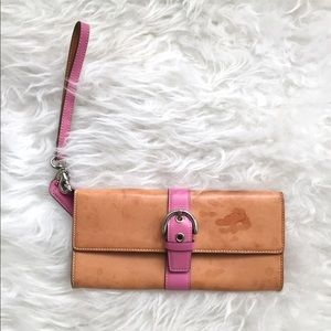 Authentic Pink Coach Clutch (vintage style)