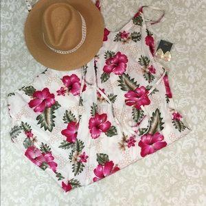 Dresses & Skirts - Floral Summer Dress -Calf Length