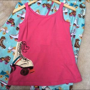 Munki Munki Other - Munki Munki Roller Skates pajamas PJ set capris