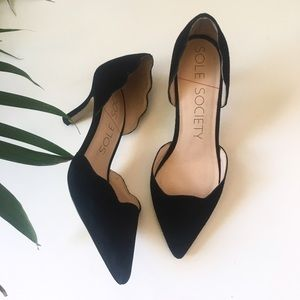 Sole Society Shoes - Sole society scallops black heels