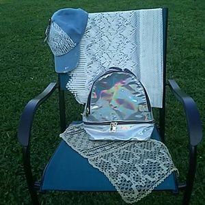 Pink Haley Handbags - Fashion mirror backpack.