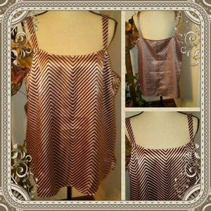 Other - Brown Chevron Satin Cami