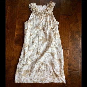 London Times Dresses & Skirts - Elegant gold and cream shift dress size 10