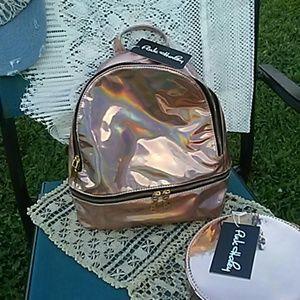 Pink Haley Handbags - Mirror mettalic backpack.      Pink Haley
