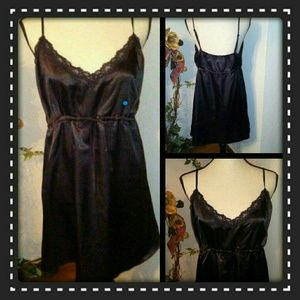 Ashley Stewart Other - Beautiful Black Satin Plus Nightie
