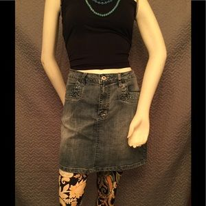 Apollo Jeans Dresses & Skirts - Plus 1XL denim blue jean skirt, legging,& tube top