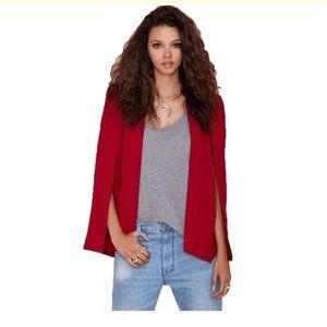 Nasty gal cape blazer - red