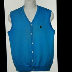 Lyle & Scott Other - Mens Lyle & Scott Sweater Vest Blue Size Slim M