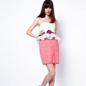 Nishe Dresses & Skirts - Brand New Scallop Hem Skirt w/ Cupcake Embroidery